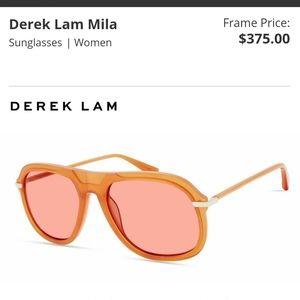 NWT Derek Lam Mila sunglasses orange ambre
